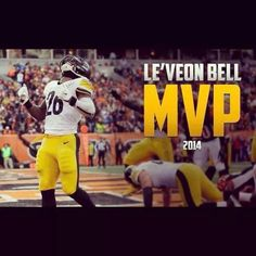 Congratulations to Le'Veon Bell, who was voted the 2014 Steelers Team MVP by his teammates. Steelers Team, Pittsburgh Steelers Football, Steeler Nation, Steelers Stuff, Football Is Life, Football Players, Best University, Michigan State Spartans, Black N Yellow