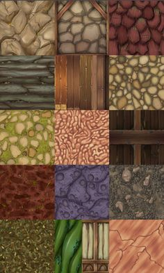 New Stylized Games Art Hand Painted Textures Ideas Texture Drawing, 3d Texture, Tiles Texture, Texture Painting, Game Textures, Textures Patterns, Paint Games, Hand Painted Textures, Digital Art Tutorial