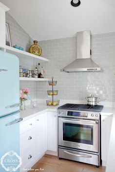 Freshness in the kitchen, and a fridge Tiffany's would approve of
