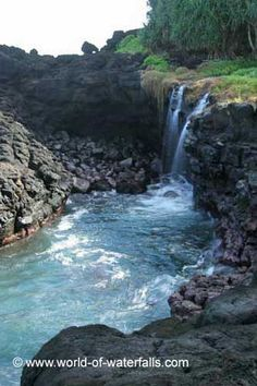 The Queens Bath Waterfalls, Princeville (Kauai Island), Hawaii, USA