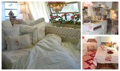 Fun blog showing 5 different camper decor types!  Cute!  Rose Vine Cottage collage