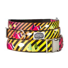 These colorful dog collars rock / by Fifi Runn. 10% of proceeds are donated to a dog-focused charity each month.