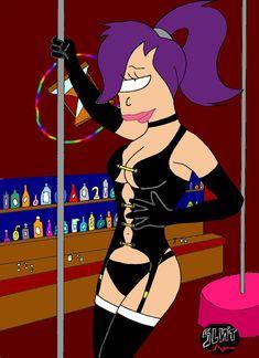fetish dancer leela at a club by SLNTcharlie on DeviantArt Daphne Blake, Wonder Woman Comic, Joe Cool, The Uncanny, Painting Videos, Futurama, Sexy Poses, Pin Up Style, Dieselpunk
