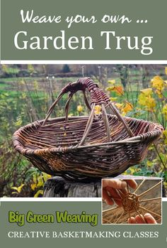 In this video tutorial Irish basketmaker Brendan Farren shows you how to weave your own Garden Trug, which is a traditional, shallow basket for gathering garden produce. The creative process has been Willow Weaving, Basket Weaving, Making Baskets, Basket Crafts, Gift Basket, Garden Basket, Recycled Magazines, Pine Needle Baskets, Weaving Projects