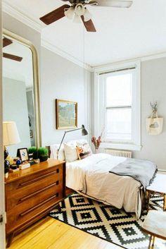 small bedroom carpet large mirror dresser