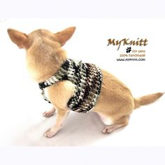 chihuahua harnesses hand knitting by myknitt #chihuahua #dogs #handmade #etsy #diy #harness