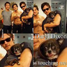 He Is touching me!