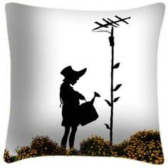 Flower Meadow Graffiti Art Cushion x cm - Casafina Banksy, Graffiti Art, Art, Inspiration