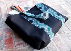 Library Tote. Carry all your books home in this useful Library Tote. This simple tote bag tutorial is easy and fast to make, a great beginner sewing project. It's sturdy design will let you bring home all the books you want! #sewing