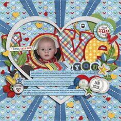 01-16-Love-you-web  scrapbook boy layout page