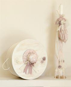 Ολοκληρωμένο βαπτιστικό πακέτο vintage με καπέλο και ομπρέλα, annassecret, Χειροποιητες μπομπονιερες γαμου, Χειροποιητες μπομπονιερες βαπτισης