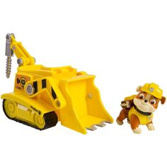 Paw Patrol Vehicle and Pup - Rubble's Diggin' Bulldozer