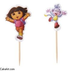 Dora the Explorer Cupcake Fun Pix Wilton 24 ct ** Click image to review more details.(This is an Amazon affiliate link and I receive a commission for the sales)