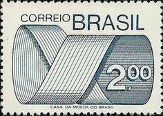 Sello: Stamp (Brasil) (Mark Post and Emblem) Mi:BR 1450,Sn:BR 1258,Yt:BR 1128,RHM:BR 553