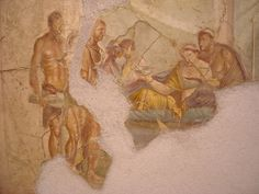"""""""Symposium"""" - from Pompeii, House of Joseph II - Naples, Archaeological Museum 