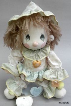 Applause Soft Sculpture Doll 14in Precious Moments #Clown Donny 1985 Hang Tags #PreciousMoments #Dolls #ApplauseDivofWallaceBerrie