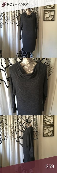 Vince Angora Cowl Neck Sweater Dress - NWOT Simply beautiful cowl neck sweater dress by Vince in dark heathered charcoal grey. Unbelievably soft angora blend. Dolman sleeves with fitted skirt. Would look amazing with tights and boots! Perfect unworn condition (I changed sizes between seasons). Measurements and materials in additional photos. Vince Dresses Mini