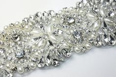 Crystal Bridal Applique Trim 12002 by Ballade on Etsy, $35.00