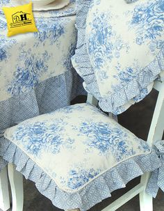 Cuscino per la seduta della Collezione Blue Garden