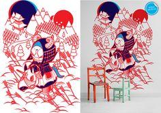 'Evil Rider' Wall Mural.  Product Code: wrm302sc #wallpaper #wallpaperrepublic #murals #stephenchan #evilrider