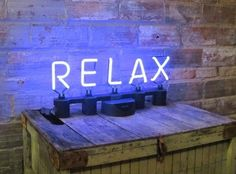 Plug and Play Neon Phrase Relax by neoslettering on Etsy - StyleSays