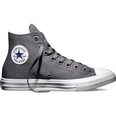Converse Chuck Taylor All Star II – grey Sneakers ($75) ❤ liked on Polyvore featuring shoes, sneakers, converse, grey, converse trainers, gray sneakers, star shoes, converse footwear and converse shoes