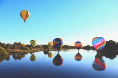 Hot Air Balloon Race in Eastern WA  by TravelPrintStudio on Etsy