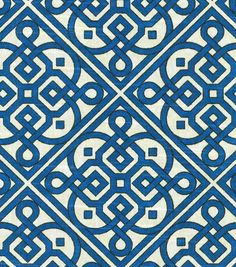 Home Decor Print Fabric- Waverly Lace It Up Navy - would be pretty to cover the chair cushions in my dining room