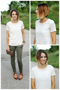 What's trending for spring? Short hair with BIG style! Try out a shorter hairstyle, like this asymmetrical ombre bob, for spring for easy maintenance and a fresh new look.