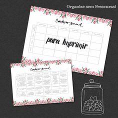 Bom dia!! Hoje no blog tem um calendário muito bacana de cardápio semanal + listinha de supermercado para imprimir e você se organizar, vem ver! http://organizesemfrescuras.com.br/organizacao/organizacao-pessoal/cardapio-semanal-para-imprimir/