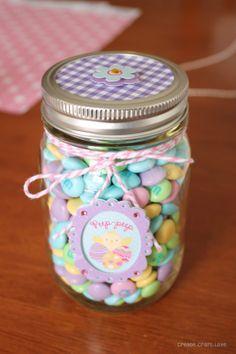 ball mason jar christmas gift ideas | Mason Jar Easter Treat Gifts via thecreativeheadquarters.com #easter # ...