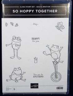 Kawaii Stickers, Cute Stickers, Frog On A Unicycle, Lisa Frank Stickers, Craft Punches, You Can Do Anything, Journal Pages, Clear Stamps, Booklet