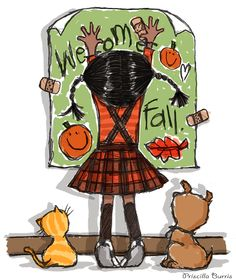 Priscilla Burris, Welcome Fall Illustration