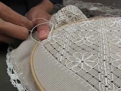 This is a lesson on the fan filling in Punto Antico embroidery. It is a supplement to the written instructions on my website, in the Hardanger Embroidery, Ribbon Embroidery, Beaded Embroidery, Cross Stitch Embroidery, Hand Embroidery Designs, Embroidery Patterns, Swedish Weaving, Drawn Thread, Granny Square Crochet Pattern