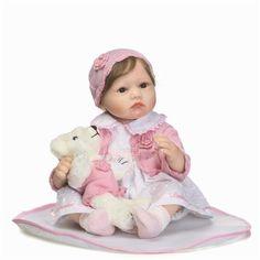 New Cute Soft Silicone Adora Reborn Dolls Baby Realistic Doll Reborn 22 Inch Full Vinyl Boneca Baby Reborn Doll For Girls Baby Doll Toys, Newborn Baby Dolls, Baby Girl Dolls, Baby Boy, Baby Play House, American Girl Baby Doll, Reborn Toddler Girl, Baby Dolls For Sale, Real Life Baby Dolls