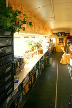 I would absolutely love to convert an old school bus into an art studio