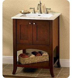 Photography Gallery Sites Fairmont Designs Shaker Transitional Dark Cherry Bathroom Vanity w Open Shelf decorplanet