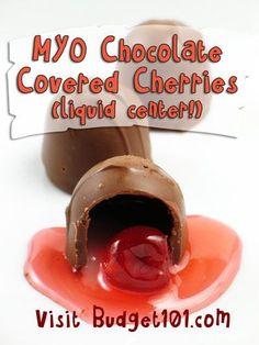 Budget101.com - - MYO Liquid Center Chocolate Covered Cherries | Homemade Gift ideas