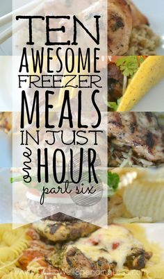 """Craving big flavor but short on time?  This brand new 10 Meals in an Hour plan shows you exactly how to whip up TEN delicious home cooked meals in about an hour!  All five """"Global Flavors"""" have been family-approved, are easy to cook and use budget-friendly ingredients!  This super helpful post includes everything you need, including a printable shopping list, printable prep & prepare instructions, printable labels, and five delicious recipes!"""