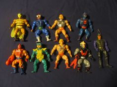 8 Masters of the Universe Action Figures, plus one Sectaurs Action Figure, in a bag for 9.99!