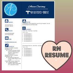 Resume Template Instant Word Document Download For Registered Nurses