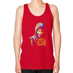 Scorpion will relieve you Unisex Fine Jersey Tank (on man)