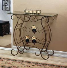 Vineyard Wine Rack Table for Kitchen or Home