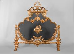 Antique Napoleon III firescreen in gilt bronze with the Salamander of King Francis Ist (Reference - Available at Galerie Marc Maison Charred Wood, Classical Antiquity, Flower Branch, Architectural Antiques, Acanthus, French Antiques, Parisian, A Table