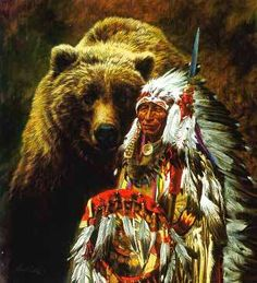 My Brother the Grizzly - 1000 piece jigsaw puzzle. Finished size: x Artist: Paul Calle. Released January puzzles are made in the USAEco-friendly soy-based inksRecycled boardsNot sold in mass-market stores Native American Paintings, Native American Pictures, Native American Artists, Native American History, Native American Indians, Bear Totem, American Indian Art, Cross Paintings, Original Paintings