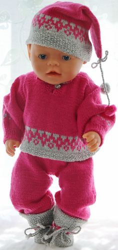 Doll Knitting Books Selma Knitted Doll Patterns, Knitted Dolls, Doll Clothes Patterns, Baby Knitting Patterns, Knitting Books, Knitting For Kids, Hand Knitting, Granny Joy, Baby Born Clothes