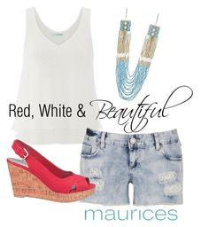 Red, White & Beautiful by maurices on Polyvore featuring maurices
