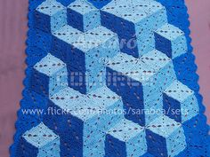 3d illusion afghan block pattern | Recent Photos The Commons Getty Collection Galleries World Map App ...