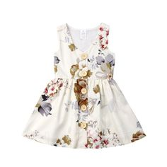 Little Kids Baby Girl Dress Princess Floral Skirt Sleeveless Button Formal Dresses Girls Summ. - Little Kids Baby Girl Dress Princess Floral Skirt Sleeveless Button Formal Dresses Girls Summ… Girls Summer Outfits, Toddler Girl Outfits, Toddler Dress, Kids Outfits, Summer Clothes, Toddler Girls Clothes, Toddler Girl Easter Outfit, Toddler Boys, Toddler Summer Dresses