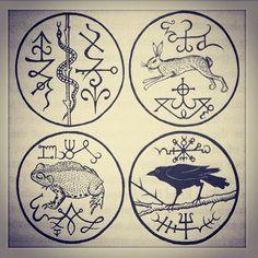 Gemma Gary's Seals of the Four Roads, via witcheryway on Instagram.